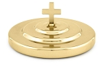Artistic Communion Bread Plate Cover - Brasstone