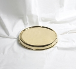 Communion Tray Base - Brass Tone Over Stainless Steel