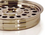 One Pass Communion Tray - Brass Tone Over Stainless Steel