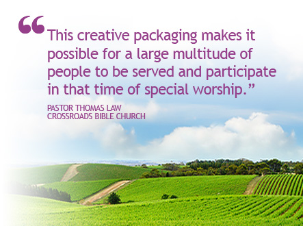 Customer Testimonial - Creative packaging makes it possible for a large multitude of people to partake in Communion