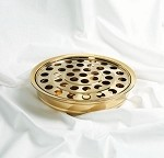 Communion Tray <br>Brass Tone Over Stainless Steel