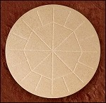 Large Whole Wheat Communion Wafers<br><b>Box of 25 Wafers</b>
