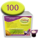 Prefilled Communion Cups with Wafers Box of 100