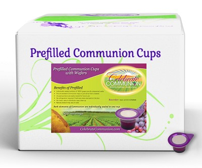500 Prefilled Communion Cups with Wafers Set Box