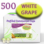 Prefilled Communion Cups with White Grape Juice Box of 500