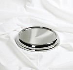 Communion Bread Plate Base<br>Silver Tone Over Stainless Steel
