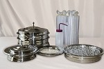 Traditional Communion Set for 120 People - Silver