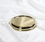 Communion Bread Plate Base - Brass Tone Over Stainless Steel