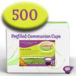 Prefilled Communion Cups with Wafers- Box of 500