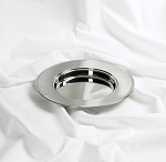Single Non-Stacking Communion Bread Plate  - Silver Tone Over Stainless Steel