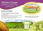 Prefilled Communion Cups with White Grape Juice - Box of 250